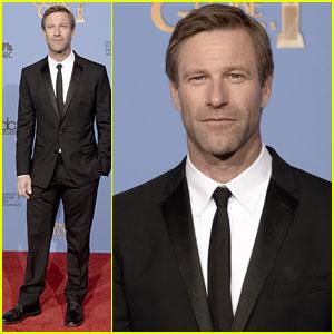 Aaron Eckhart - Golden Globes 2014 Red Carpet