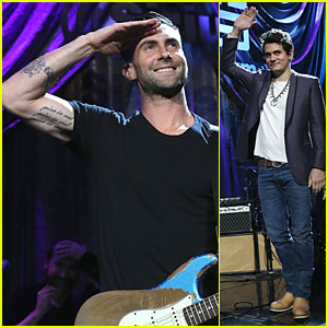 Adam Levine & John Mayer: Rockers at Howard Stern's Birthday Bash!