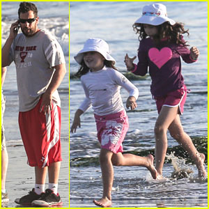 Adam Sandler & Family Back in Malibu After Hawaii Vacation!