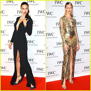 Adriana Lima & Karolina Kurkova: IWC Aquatimer Watch Launch!