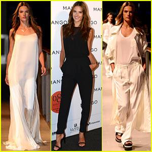 Alessandra Ambrosio Hits the Runway for Mango's Fashion Show