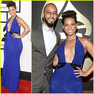 Alicia Keys & Swizz Beatz - Grammys 2014 Red Carpet