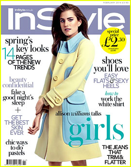 Allison Williams Covers 'InStyle Uk' February 2014