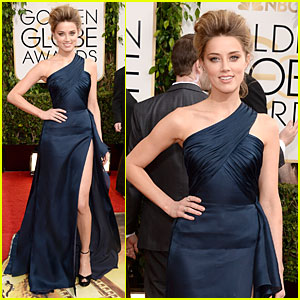 Amber Heard - Golden Globes 2014 Red Carpet