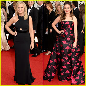 Tina Fey & Amy Poehler - Golden Globes 2014 Red Carpet