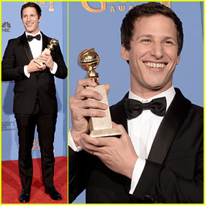 Andy Samberg WINS TV's Best Comedy Actor at Golden Globes 2014!