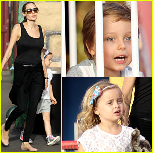 Angelina Jolie: Luna Park Fun with the Kids!