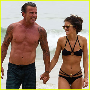 AnnaLynne McCord: Bikini Beach Babe with Shirtless Dominic Purcell!