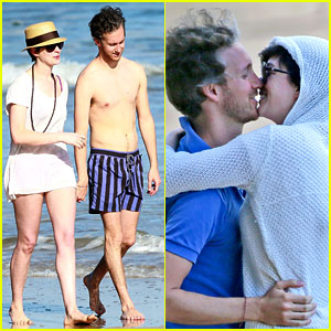 Anne Hathaway: Beachtime Bliss with Shirtless Adam Shulman!