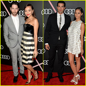 Ashley Madekwe & Jesse Metcalfe: Audi's Golden Globes Party!