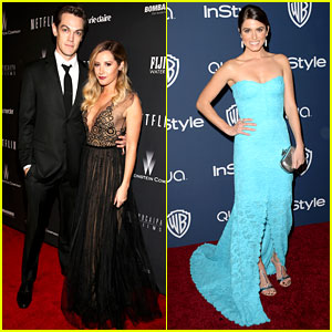 Ashley Tisdale & Nikki Reed - Golden Globes After Parties 2014