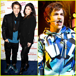 Austin Mahone Gets Support from Kylie Jenner at NYC Concert!