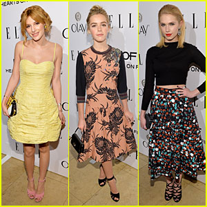 Bella Thorne & Kiernan Shipka - Elle's Women in TV Celebration 2014