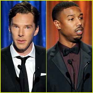 Benedict Cumberbatch & Michael B. Jordan - Producers Guild Awards 2014