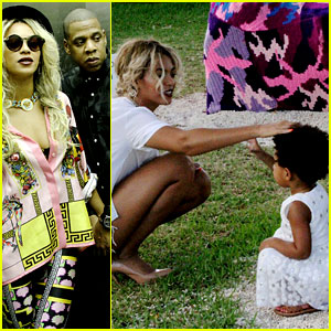 Beyonce & Jay Z Visit a Park with Blue Ivy - New Photos!