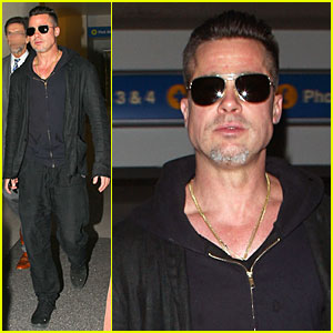 Brad Pitt: LAX Arrival After Angelina Jolie's 'Difret' News!