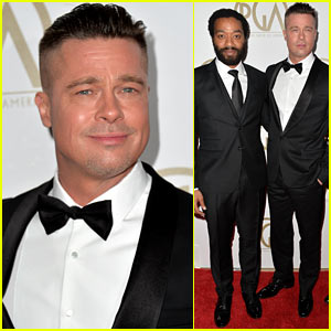 Brad Pitt - Producers Guild Awards 2014 with Chiwetel Ejiofor
