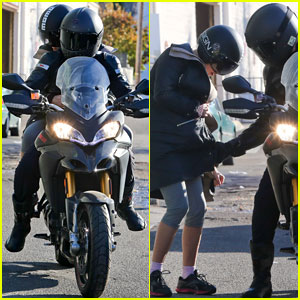 Bradley Cooper: Birthday Motorcycle Ride with Suki Waterhouse!