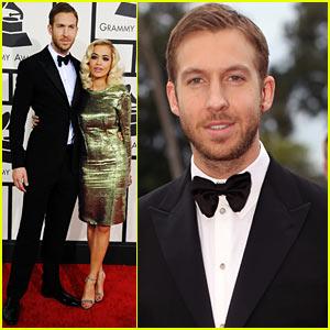 Calvin Harris: Grammys 2014 Red Carpet with Rita Ora!