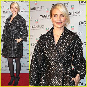 Cameron Diaz: TAG Heuer NYC Flagship Store Opening!