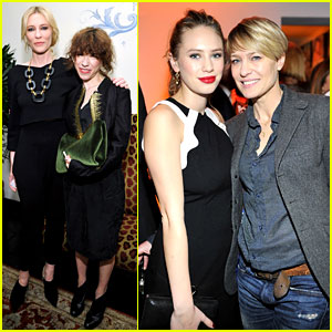 Cate Blanchett & Robin Wright: Pre-Golden Globes Party 2014!
