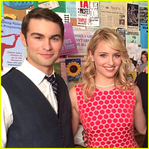 Chace Crawford & Dianna Agron: 'Glee' 100th Episode Set Photo!