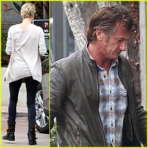 Charlize Theron & Sean Penn Keeping Romance Going with Trip to the Studio