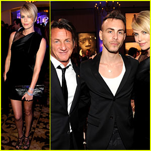 Charlize Theron Supports Sean Penn at Help Haiti Home Gala!