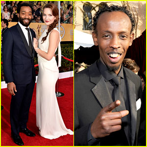 Chiwetel Ejiofor & Barkhad Abdi - SAG Awards 2014 Red Carpet