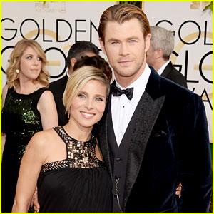 Chris Hemsworth & Elsa Pataky - Golden Globes 2014 Red Carpet