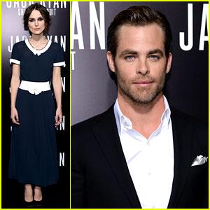 Chris Pine & Keira Knightley: 'Jack Ryan' Hollywood Premiere!