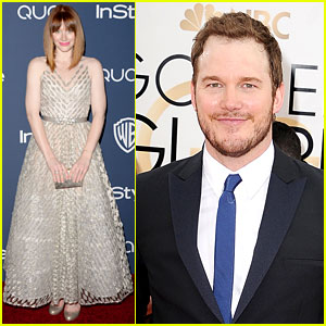 Chris Pratt & Bryce Dallas Howard Meet at Golden Globes 2014!