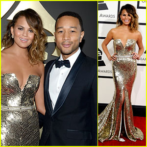 Chrissy Teigen & John Legend - Grammys 2014 Red Carpet