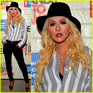 Christina Aguilera is Fedora Fierce at Stand Up to Cancer Event!