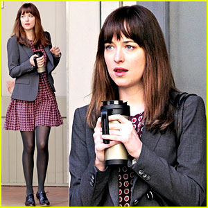 Dakota Johnson Shoots 'Fifty Shades' Scenes with Max Martini!
