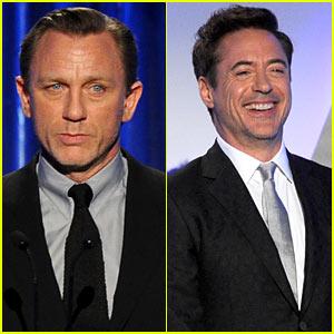 Daniel Craig & Robert Downey, Jr. - Producers Guild Awards 2014