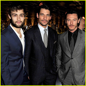 Douglas Booth & Luke Evans: London Collections Closing Dinner