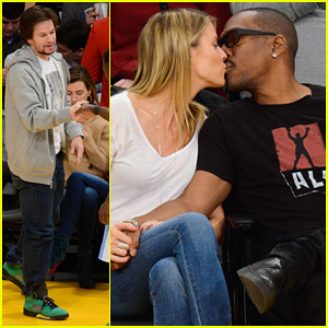 Eddie Murphy & Paige Butcher: Lakers Game Kiss!