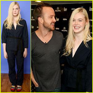 Elle Fanning & Aaron Paul Meet Up at Variety's Sundance Studio