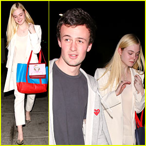 Elle Fanning: Matsuhisa Dinner Date with Male Friend!