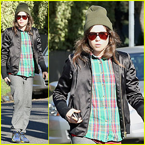 Ellen Page: Car Fixing Gal After Gym Workout!