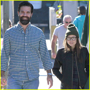 Ellen Page Meets Up with Comedian Rob Delaney for Lunch