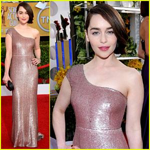 Emilia Clarke - SAG Awards 2014 Red Carpet
