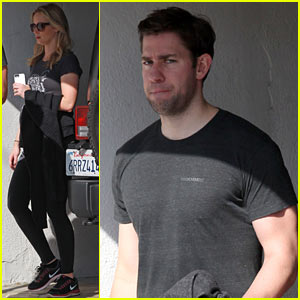 Emily Blunt & John Krasinski: Day Date at the Gym!
