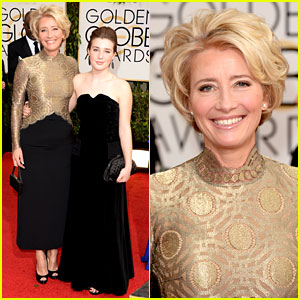 Emma Thompson - Golden Globes 2014 Red Carpet