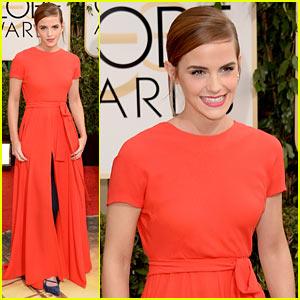 Emma Watson - Golden Globes 2014 Red Carpet