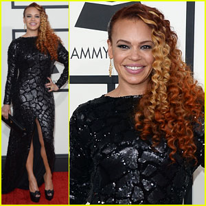 Faith Evans - Grammys 2014 Red Carpet