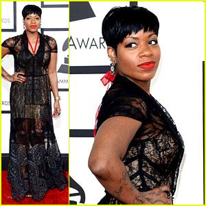 Fantasia Barrino - Grammys 2014 Red Carpet