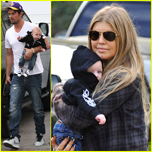 Fergie & Josh Duhamel Step Out with Axl After Fifth Wedding Anniverary!