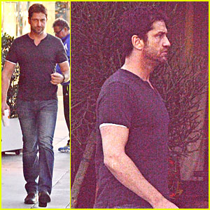 Gerard Butler Flashes Bulging Biceps for Coffee Run!